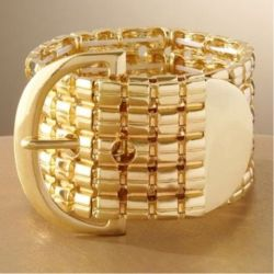 Gold Tone Cuff Bracelet by Jennifer Lopez (Taken with Pose)