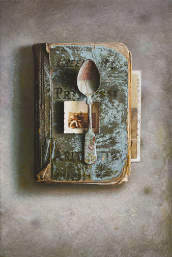 John Whalley Copper SpoonOil on wood panel, 22 x 15 inches