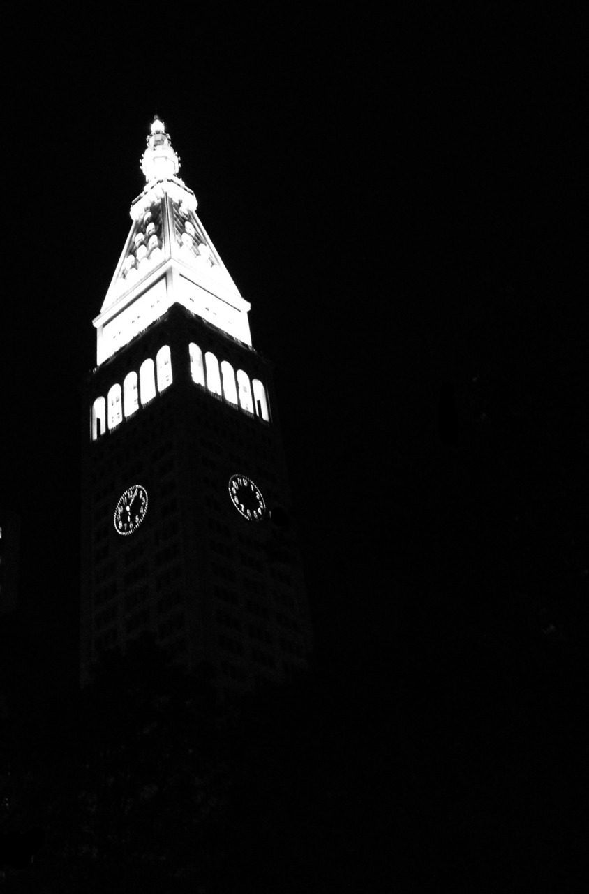 Clock tower near flatiron in NYC. PZNT