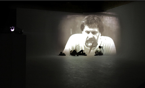 untitled (object of ideology)  HD video, silent installation view