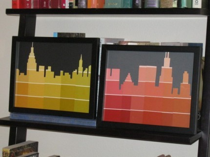 crafty-vibes:  Paint Chip Skyline