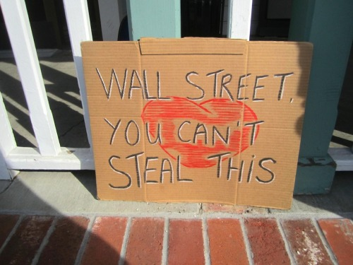 Sign at Occupy Point Reyes earlier today.