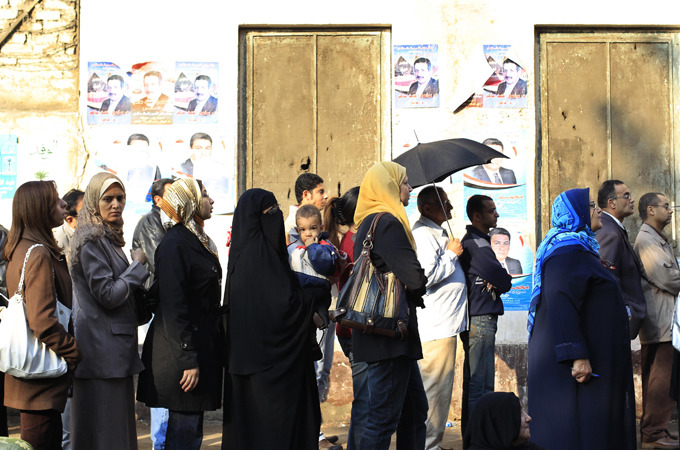 Polls open in Egypt's landmark elections |   Egyptians vote for first time since Hosni Mubarak was toppled, as protests continue across country for tenth day.