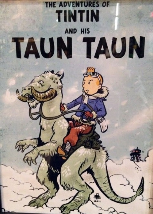 tiefighters:  Tin Tin on a Taun Taun  - by Benjamin Rivers Website || Twitter || Tumblr