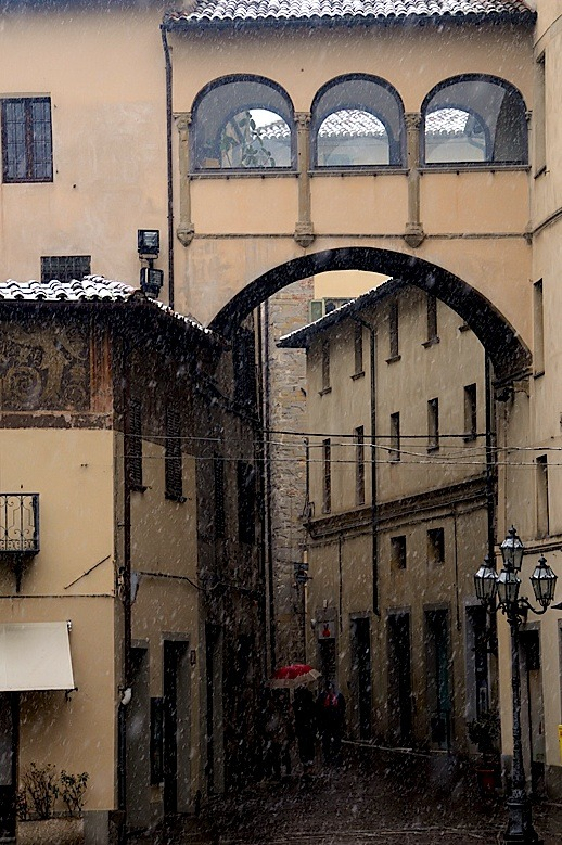 | ♕ |  Snow in Castello - Perugia, Italy  | by © Silvio Sorcini | via ysvoice