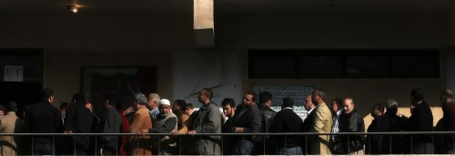 "newsflick:  Egyptians line up to cast their votes in historic election Voters stood in long lines outside some polling centers in Cairo well before they opened at 8 a.m. local time (1 a.m. ET), a rare sign of interest in political participation after decades of apathy created by the mass rigging of every vote. ""We are very happy to be here and to be part of the election,"" said Wafa Zaklama, 55, voting for the first time in a parliamentary . (source)"