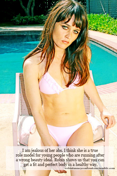 "Robin Tunney Confession:""I am jealous of her abs. I think she is a true role model for young people who are running after a wrong beauty ideal. Robin shows us that you can get a fit and perfect body in a healthy way""."