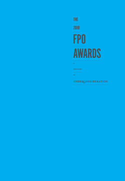 FPO Awards, Pre-Order(-20%) A PDF with 13 sample spreads is available for preview here [27.6 Mb PDF].