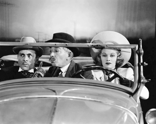 Lucille Ball with Fritz Feld and Arthur Stone in Go Chase Yourself (1938)