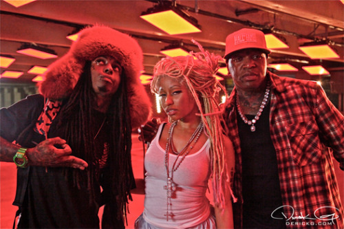 Birdman Nicki Minaj and Lil Wayne photo from their new song YU MAD?