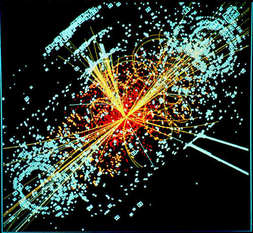 Why the Higgs Boson Matters jtotheizzoe:  Why the Higgs Boson Matters - Basic Space: Winner of the Imperial College Science Challenge essay contest in physics … great read on why seeking out the Higgs is so important.  Have you ever contemplated why you weigh what you do? I am not alluding to the second doughnut you had the other morning, or the ill-advised chips on the way home from the pub, but rather the fundamental reason why the atoms that make up your body, and everything else in the world, have a certain mass. If you haven't, you are not alone — until recently, scientists hadn't thought much about it either.Before the standard model of particle physics came along, the origin of mass was not even considered a problem; that an object had mass was simply assumed. But when scientists began probing objects at smaller and smaller scales, they discovered that it was not quite as simple as that: according to the standard model, fundamental particles should weigh nothing at all.  (via Scientific American Blog Network, image of theoretical Higgs event via Wikimedia)