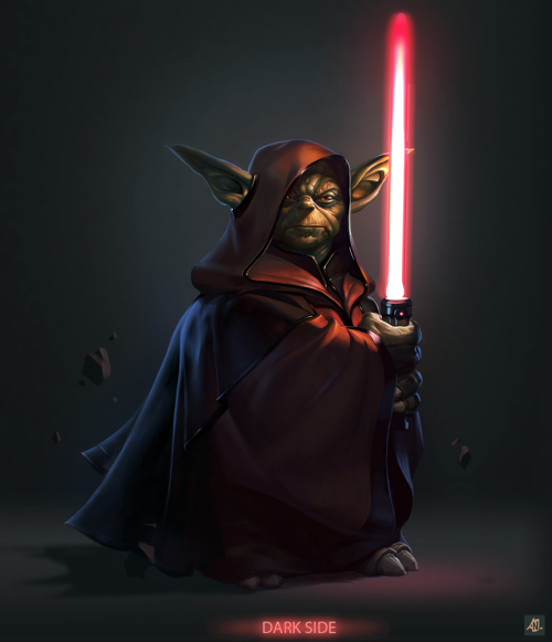 justinrampage:  Yoda gave into the true power of the Dark Side in this bad ass illustration by CGHUB artist Aleksandr Nikonov. Check out more of his work here. Darth Yoda by Aleksandr Nikonov / Niconoff