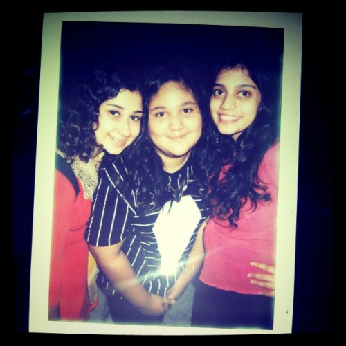 me, eneng huwa, and @rerehana  #instagram #family #cousin #cousins #sister #sisters #polaroid (Taken with instagram)