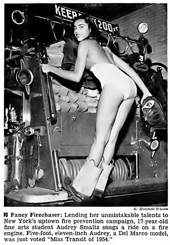 Harlem-born Audrey Smaltz, Miss Transit of 1954 in Jet, November 25, 1954. Ms. Smaltz would go on to be personal assistant to Eunice Johnson and eventually a commentator and producer of the Ebony Fashion Fair shows. Today, she is CEO of Ground Crew, a backstage management company for the fashion industry. In November 2011, she married her partner of 12 years, 1976 Olympic Silver Medalist Gail Marquis.