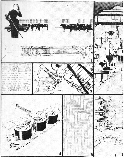 REM KOOLHAAS' STUDENTS  ARCHITECTURAL ASSOCIATION UNIT 6 STUDENT PROJECTS, 1970s