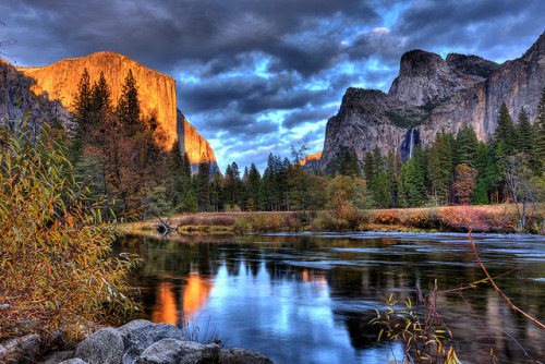 r0nald-weasl3y:  Reflections in the Merced - Yosemite (Explore) by sjs61 on Flickr.