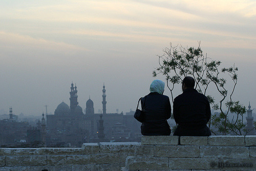 allaclaire:  Cute Couple At Sunset Al Azhar Park