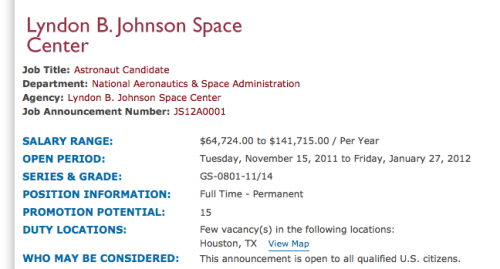 NASA is hiring, you guys.