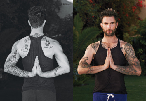 breakfastinsf:  Like I need another reason to love yoga. (via Adam Levine's Rock-Star Yoga:  Details.com)