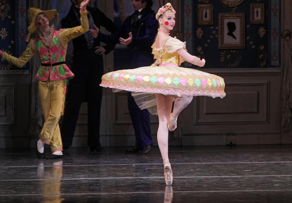 "DANCE REVIEW  'Nutcracker' offers nods to past, future - This season's delightful ""Nutcracker"" by the Boston Ballet is the last for the current sets and costumes, so if you've developed a fondness for them, don't wait till next year."