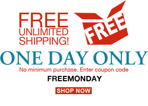 For one day only, enjoy free, unlimited shipping on Powells.com! No minimum purchase. Simply enter the coupon code FREEMONDAY when you check out and enjoy your free shipping.