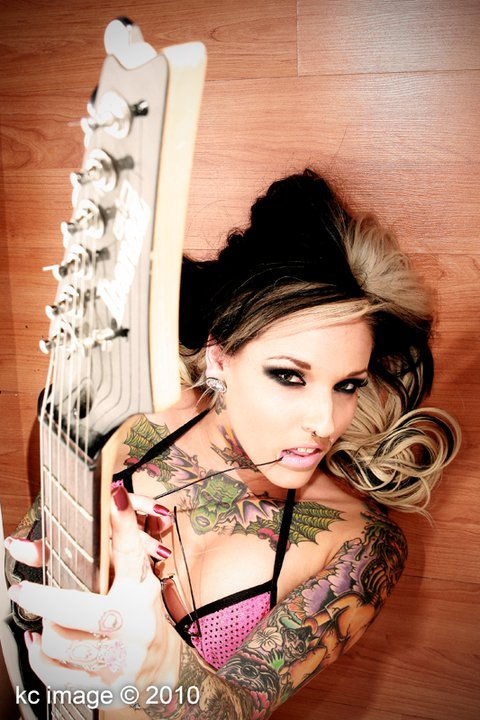 tattoo-inked:  miss horror hollywood