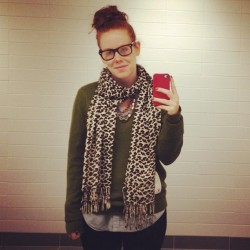 Bored at work. #me #bun #redhead #bathroom (Taken with instagram)