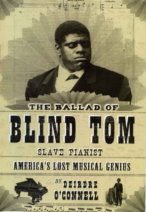 "barelysarcasm:  lickypickystickyfree:   Born in 1849, ""Blind Tom"" Wiggins found himself with three burdens  and a gift: He was blind, he was mentally challenged, he was a slave,  and he was a musical prodigy. He was playing piano by ear at age 4, before he could speak. At 5 he  composed a tune and found he could reproduce perfectly any piece from  memory. His vocabulary was only about 100 words, and he spoke of himself  in the third person (""Tom is pleased to meet you""), but in time he  learned 7,000 piano pieces, mostly classics. At age 8 a successful concert in Columbus, Ga., led to a tour. He  played for James Buchanan and Mark Twain, accepting challenges to repeat  original compositions to show there was no trickery. By age 16, he was  touring the world. He retired in 1883 but returned briefly for a series of New York concerts in 1904. He died in 1908.   This is an amazing story. I am now inspired.  This should be a movie"