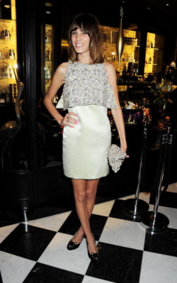 earlysunsetsovermonroeville:   Alexa Chung attends a drinks reception at the British Fashion Awards 2011 held at The Savoy Hotel on November 28, 2011 in London, England