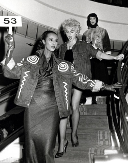"Iman made it to the big time in the '80s, appearing in several movies and TV shows and earning a rare rave from Yves-Saint Laurent, who said, ""My dream woman is Iman."""