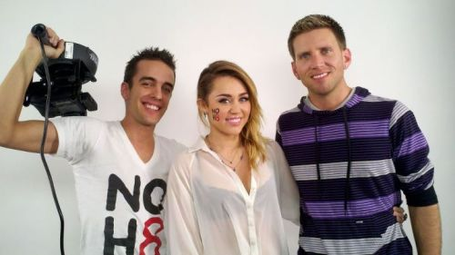 First look at Miley's NoH8 shoot