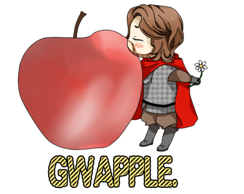 rosebirds:  GWAPPLE. by *91AuF92  I am a proud Gwapple Shipper! This is adorable!