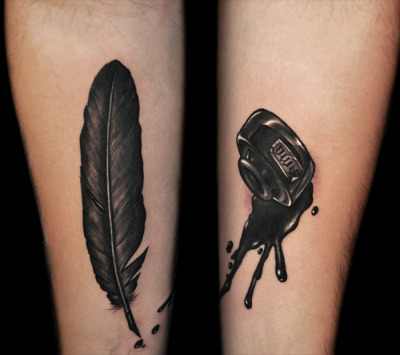 Quill and ink…tattoo by Kid Kros http://www.facebook.com/kidkros