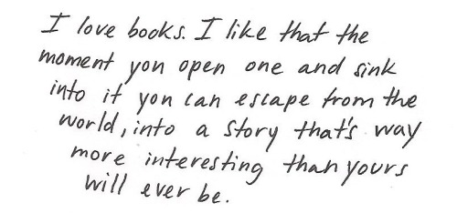 h-e-a-v-e-n:  books are my favourite things in the world