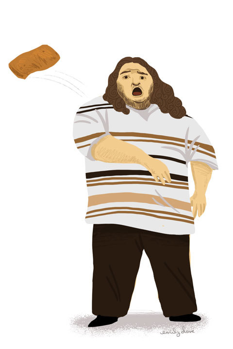 - Hurley throwing a hotpocket at Ben Linus :)