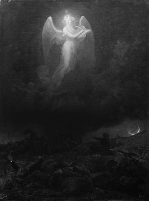mirroir:  Emanuel Leutze (1816-1868) - Angel on the Battlefield
