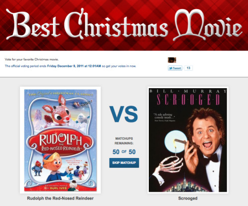 We need your help to decide the Best Christmas Movie of all time! Is it Die Hard? A Christmas Story? Home Alone? VOTE NOW