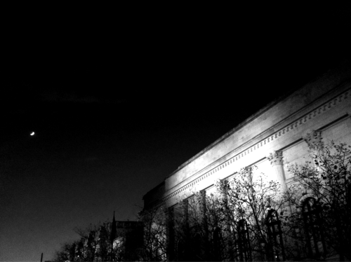 Moon over the Met.