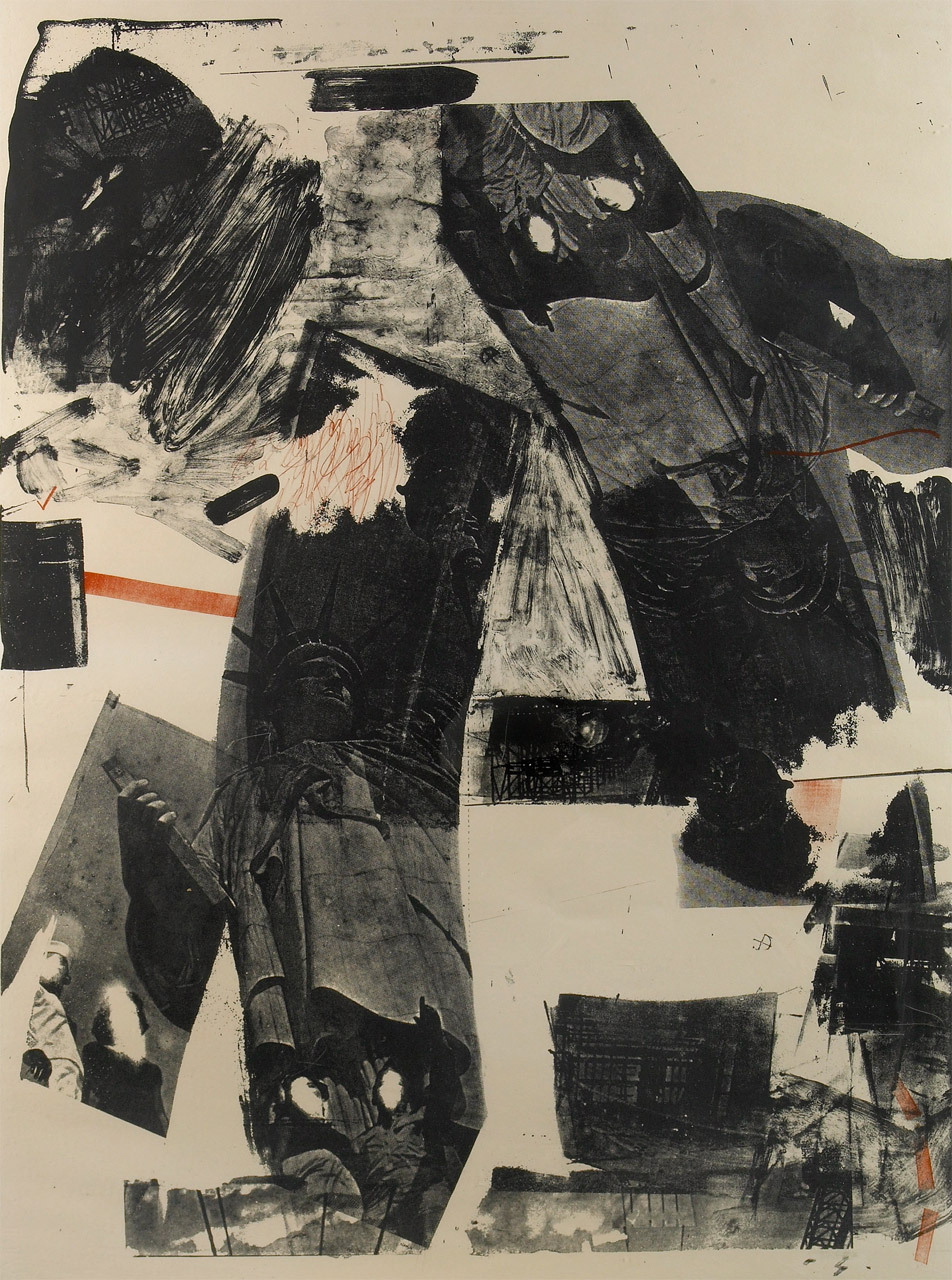 [reblog from SFMOMA]  Robert Rauschenberg, Front Roll, 1964