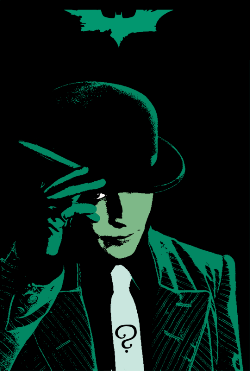 jordangibson:  Here's a Riddler thing I made last year along with those other posters.