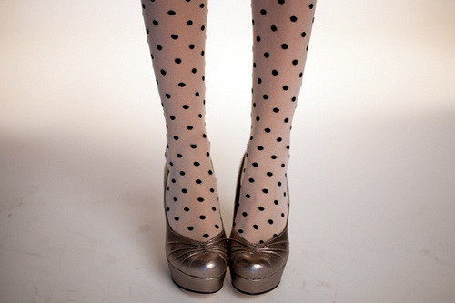 A pretty pairing: The Jukebox Tights and Letterpress Heel!