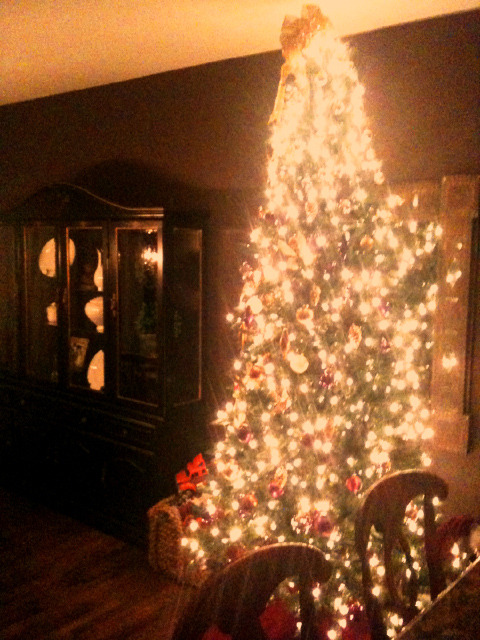 Loving the Glow in the House from the Tree : ) Feeling soooo festive : )