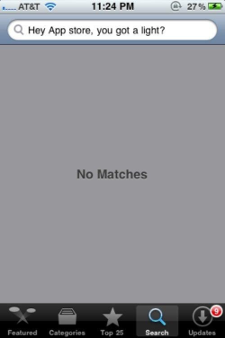 no, matches?