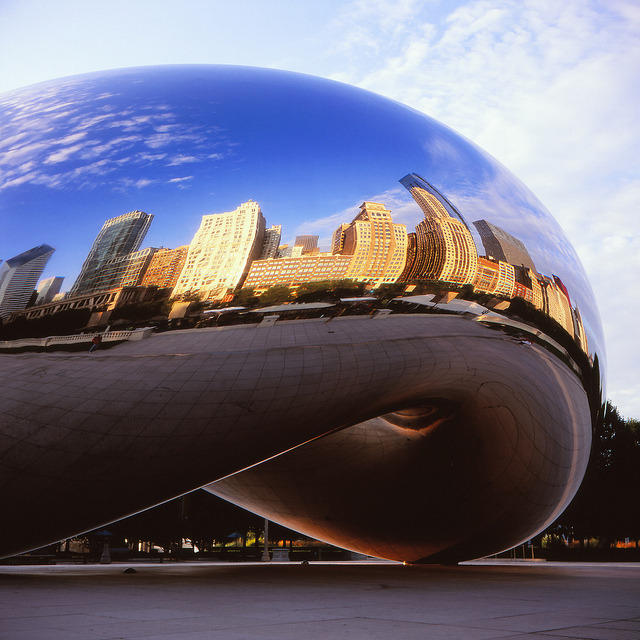 The Bean on Velvia on Flickr.Via Flickr: Cloud Gate. Millennium Park, Chicago.  Rolleiflex T | Fuji Velvia 100luisandrei.com | facebook