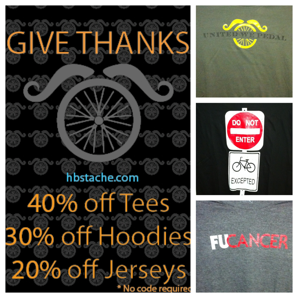 3.5hrs (midnight MT) left to get 40% off #cycling t's. www.hbstache.com Here R a few of our chick tees. #wsd #womenscycling