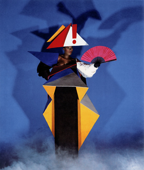 Grace Jones maternity dress 1979 © Jean-Paul Goude
