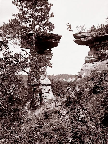 Leaping the Chasm by H. H. Bennet, 1886
