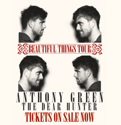 "lucy-out-loud:  Beautiful Things tour with Anthony Green.Also features: The Dear Hunter. Tickets to the tour are ONLY available with the ""Beautiful Things"" album pre-order. To order, click the following link: http://anthonygreen.ducatking.com/Dates below.1.13 - New Haven, CT @ Toad's Place1.14 - Towson, MD @ The Recher Theatre1.15 - Poughkeepsie, NY @ The Loft 1.18 - Boston, MA @ Paradise Rock Club1.19 - New York, NY @ Bowery Ballroom1.20 - Philadelphia, PA @ Union Transfer1.21 - Richmond, VA @ The Kingdom1.22 - Carrboro, NC @ Cat's Cradle1.24 - Nashville, TN @ Exit/In1.25 - Atlanta, GA @ The Loft1.27 - St Petersburg, FL @ State Theatre1.28 - Fort Lauderdale, FL @ Culture Room1.29 - Orlando, FL @ The Social1.31 - Houston, TX @ Warehouse Live2.1 - San Antonio, TX @ Korova2.2 - Austin, TX @ Mohawk2.3 - Dallas, TX @ Trees2.4 - El Paso, TX @ Tricky Falls2.6 - Tempe, AZ @ Clubhouse Music Venue2.8 - San Diego, CA @ The Epicentre2.9 - Chico, CA @ El Rey Theatre 2.11 - Pomona, CA @ The Glass House2.12 - San Francisco, CA @ Slims2.14 - Portland, OR @ Hawthorne Theater2.15 - Seattle, WA @ Neumos 2.17 - Salt Lake City, UT @ The Complex 2.18 - Denver, CO @ Bluebird TheaterALSO ADDED:6.20 - Pittsburgh, PA @ Mr. Small's Theatre6.21 - Indianapolis, IN @ The Emerson Theatre6.22 - Chicago, IL @ The Bottom Lounge6.23 - St. Paul, MN @ Station 46.26 - Detroit, MI @ Magic Stick6.27 - Cleveland Heights, OH @ Grog Shop 6.28 - Rochester, NY @ Club at Water St. Music Hall6.29 - Pawtucket, RI @ The Met Cafe 6.30 - Vineland, NJ @ Hangar 84  1.24 - Nashville, TN @ Exit/In So much sobbing will happen. So. Much. Sobbing."
