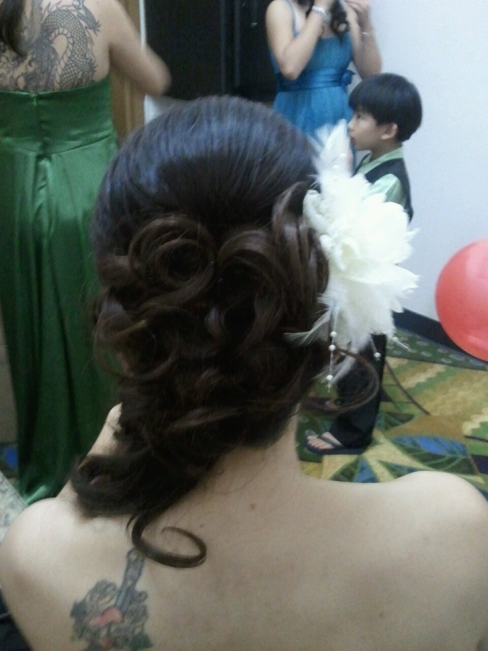 Second look for Candances's wedding Hair by Christine San Antonio