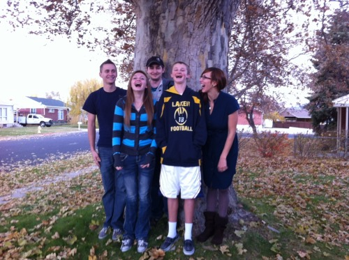 I love my brothers and sister. We are always laughing whenever we are together.